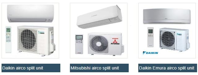 overzicht aanbod airco\'s